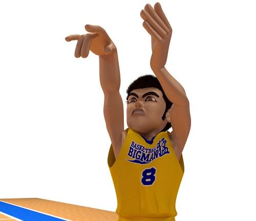 ゴリゴリなマッチョがバスケをプレイしている画像