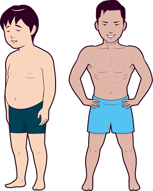 肥満体が細マッチョになったイメージ画像