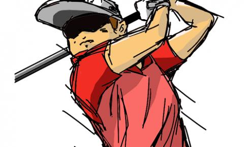 飛距離をめちゃくちゃ稼ぐ細マッチョゴルファーの画像