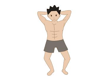 井上コーチ ゲイビデオ出演疑惑 腕を頭の後ろに組んで筋肉を強調させている男性の画像