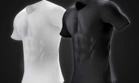 金剛筋シャツの白と黒の画像
