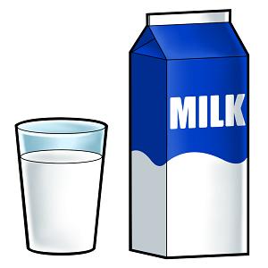 プロテインを混ぜたミルクの画像