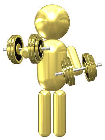 ダンベルを使ってスロートレーニングを行っている人の画像