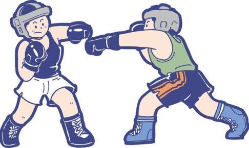 アマチュアボクシングの試合の画像